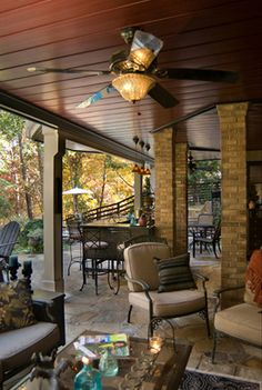 Underdecking....creates another outdoor living space under the deck