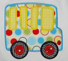 cute school bus applique