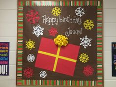 Christian Christmas bulletin board