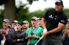 Crow reaction.    Phil Mickelson during the fourth round of the 2009 United States Open Championship, photographed at Bethpage Black Golf Course in Farmingdale, New York on Sunday, June 21 2009. Photograph © 2009 Darren Carroll.