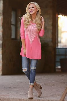 Stellar Match Top - Coral from Closet Candy Boutique #fashion #ootd #spring