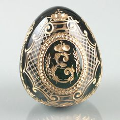 Faberge Crystal Egg | Tsarina Ekaterina (Kathrine The Great) Faberge Crystal Egg at The Russian Store