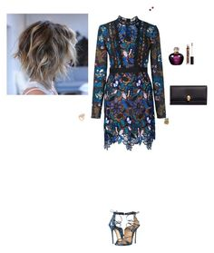 """""""Untitled #2628"""" by gracewirth101 ❤ liked on Polyvore featuring self-portrait, Dsquared2, Christian Dior, Alexander McQueen, Suzanne Kalan, Bloomingdale's, LFrank and NYX"""