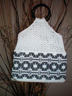 Swedish weaving/crocheted handbag
