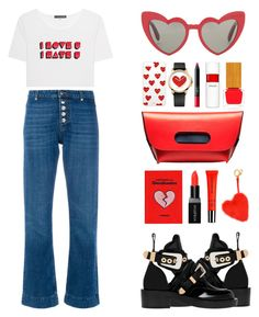 """""""i  u."""" by the-vagabond ❤ liked on Polyvore featuring AlexaChung, Balenciaga, Yves Saint Laurent, Sonix, Juicy Couture, Anya Hindmarch, Smashbox, Burberry, Habit Cosmetics and 10 Crosby Derek Lam"""