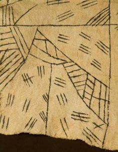 Mbuti bark cloth. 19th century.