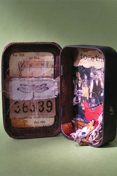Altered Art Tin Mixed Media Family by whyte on Etsy