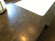 Think i want this for kitchen-black, leathered granite countertops! IT'S the coolest look!