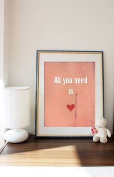 Nursery wall art print  Love. Romance. Nursery by underCherryTree, $18.00
