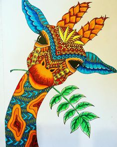 Solve Coloring Book Giraffe jigsaw puzzle online with 99 pieces African Art Paintings, Animal Paintings, Art And Illustration, Art Sketches, Art Drawings, Giraffe Art, Coloring Book Art, Dot Art Painting, Mandala Drawing