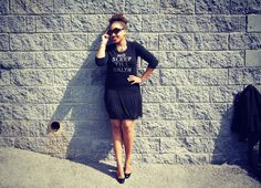 {Zara Skirt, Kate Spade Sweater & Shoes,  Prada Baroque Sunglasses, H Necklace, Forever 21 Bracelets,  Michael Kors Watch}