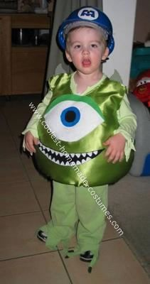 Instructions on making cheap, easy, homemade toddler Mike Wazowski costume - perhaps for nephew?