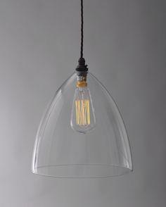 glass pendant lights | Ledbury Glass Pendant Light | Fritz Fryer