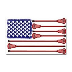 Lacrosse AmericasGame Rectangle Sticker