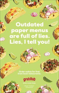 GRUBHUB click. click. food. - davecanning.com