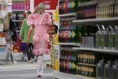 Supermarket sweep: A model Chanels Karl Lagerfeld at Paris fashion week 2014