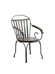 For the home office. Barreveld: Iron and Wood chair