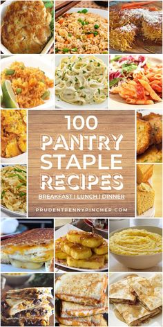 Whip up cheap and easy meals with these pantry staple meals. There are frugal pantry recipes for breakfast, lunch, dinner, dessert and side dishes. meals breakfast 100 Cheap and Easy Pantry Staple Recipes Cheap Easy Meals, Inexpensive Meals, Frugal Meals, Quick Meals, Freezer Meals, Breakfast Lunch Dinner, Dinner Dessert, Breakfast Recipes, Planning Budget