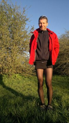 Black – [tights4him] Guys In Skirts, Boys Wearing Skirts, Men Wearing Dresses, Men Dress Up, Men In Heels, Mens Tights, Simple Black Dress, New Mens Fashion, Dress With Cardigan