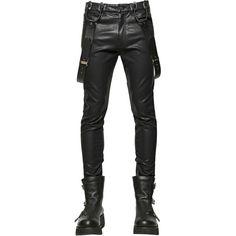 Ktz Men 15.5cm Faux Leather Pants (1 250 PLN) ❤ liked on Polyvore featuring men's fashion, men's clothing, men's pants, men's casual pants, men, pants, black, mens skinny pants, men's 5 pocket pants and mens super skinny dress pants