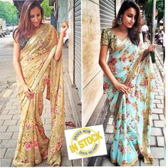 foral sari for pitthi and puja