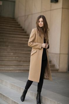 Long Coat Outfit, Winter Coat Outfits, Trench Coat Outfit, Winter Fashion Outfits, Winter Outfits, Casual Outfits, Fall Fashion, Classy Winter Fashion, Fasion