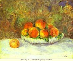 Pierre-Auguste Renoir. Still Life with Peaches. Olga's Gallery.