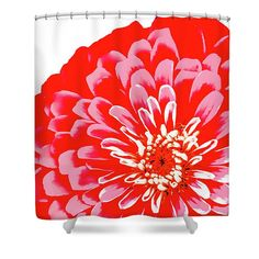 Gerber Daisy Shower Curtain,Floral Bathroom Curtain,Bathroom Decor ...