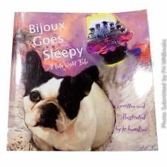 Bijoux can't sleep! This charming tale of a delightful little French Bulldog is the first in the series of The Bijoux Books for Children. Little ones of all ages will identify with Bijoux's 'stubbornness' to stay awake--and parents will find that this funny and tender tale is a beautiful way to help children settle down for the night. With beautiful illustrations that tug at your heart, Bijoux Goes Sleepy is also the ideal gift for dog lovers or anyone with a new puppy.Caution: reading…