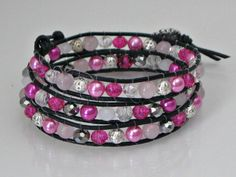 Three wrap leather bracelet or long necklace by Lauralynnmichelle, $30.00