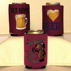 Beer Koozie machine embroidery designs