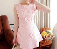 Fashion Flower Pattern Sweet Vest Dress