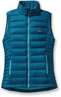 Patagonia Men's Down Sweater Vest - XS - Navy Blue w/ Ramble Red ...