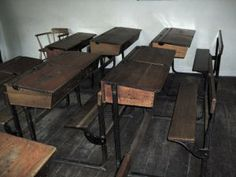 Pin by Dolce Wang on Old Wooden School Desks   Pinterest
