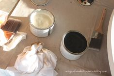 How to Revamp Your Old Kitchen Table {Using Chalk Paint} - Megan Brooke Handmade Old Kitchen Tables, Using Chalk Paint, Dining, Tableware, Desserts, Wax, Food, Antique Kitchen Tables, Tailgate Desserts