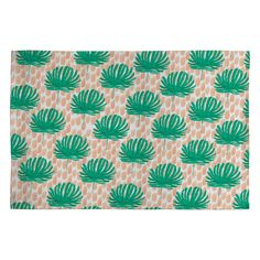 Bouffants and Broken Hearts Tropical Leaves Woven Rug | DENY Designs Home Accessories