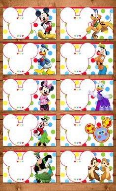 Invitaciones De Mickey Mouse Para editar Gratis | yo en ...