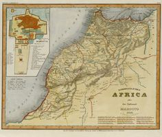 CARTE DES TRIBUS • Maroc, 1844 • Carte allemande, Radefeld