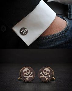 Skull Cufflinks by Goth Chic, more skull inspirations and designs at skullspiration.com
