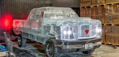 Canadian makes truck out of ice