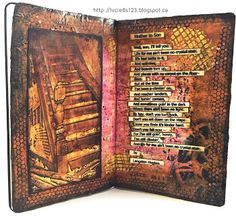"""Linda Vich Creates: And Now For Something Completely Different! Art journal page illustrating the poem, """"Mother To Son"""" by Langston Hughes."""