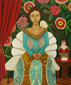 Art Print of original painting Donatellas Arrival  Open Edition Catherine Nolin via Etsy.