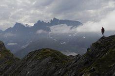Romsdalseggen, Utsikt mot Trolltindan fra Mjølvaskaret, Foto: Fred Husøy