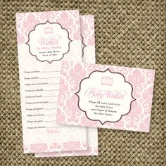 Wishes for Baby Printable Custom Baby Shower Game by RoxterDesigns, $12.00