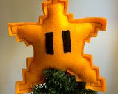 Super Mario  star tree topper...It's not too early to start thinking about the holidays is it? #holiday #decor