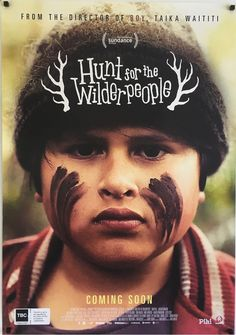 Hunt For The Wilderpeople original vintage New Zealand film movie poster, available through our website.