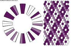 K6213 - friendship-bracelets.net.                             24 strings / 3 colours