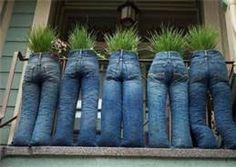 Bah-ha-ha!  garden upcycle