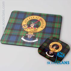 Gunn Clan Crest and Coaster Mouse Mat Set. Free worldwide shipping available