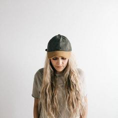 Jojo Ballcap - Grey and Caramel Trilby Hat, Boater Hat, Wide-brim Hat, Flat Brim Hat, Wide Brim Sun Hat, Lazy Day Hairstyles, Hipster Hat, Black Curls, Flattering Outfits